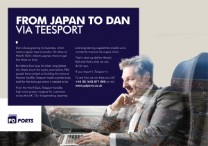 "This is a professional advertising photo of Dan, the photo shows him on a train working in his laptop. The ""From Japan to Dan"" slogan is to show that trains from Japan come through Teesport. Shot by professional northeast commercial photographer Cal Carey."