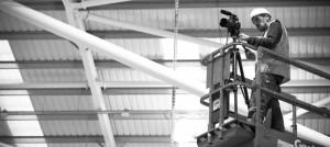 Behind the scenes shot of Cal Carey.
