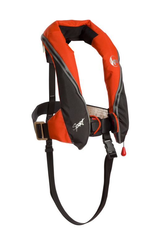 This is a professional advertising photo for 3si, they produce high quality life jackets in a studio style photograph.