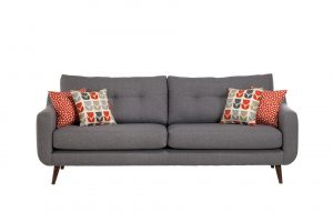 A Barker & Stonehouse sofa on a white background. Shot by Cal Carey, one of the Northeasts best photographers.